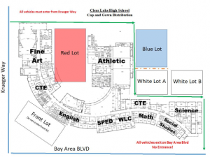 Directions on where to pick up your cap and gown.